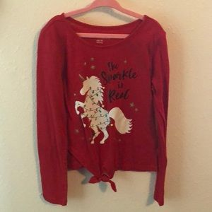Girl's Size M The Sparkle is real unicorn shirt